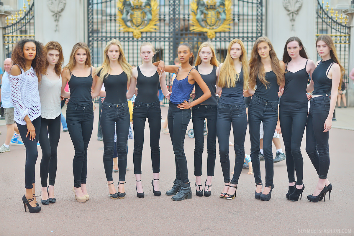 The Elite London #elitemodellook finalists walk in public for the first time