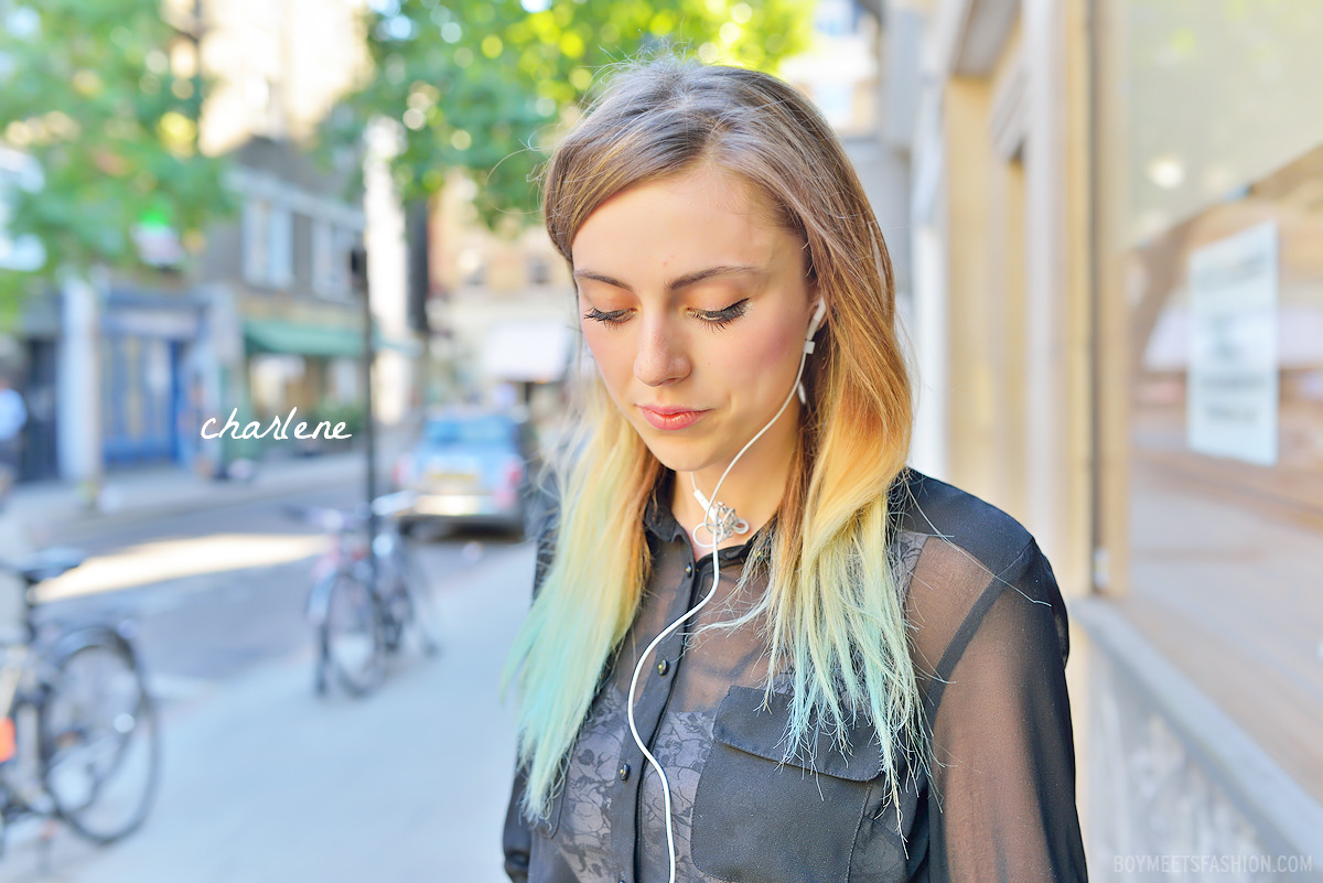 Street Style: a Manchester girl in London with beautiful ombre hair