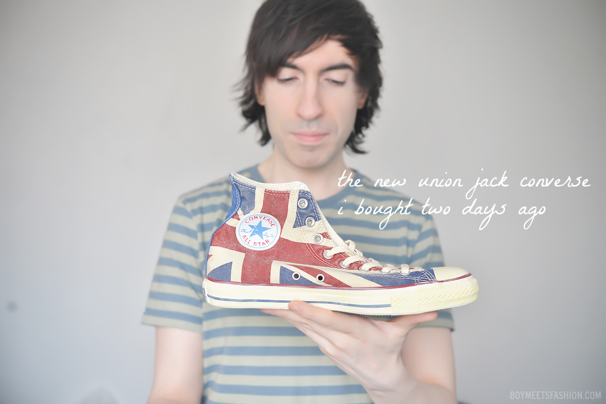 My New Vintage Inspired Union Jack Converse Hi Tops Boy Meets