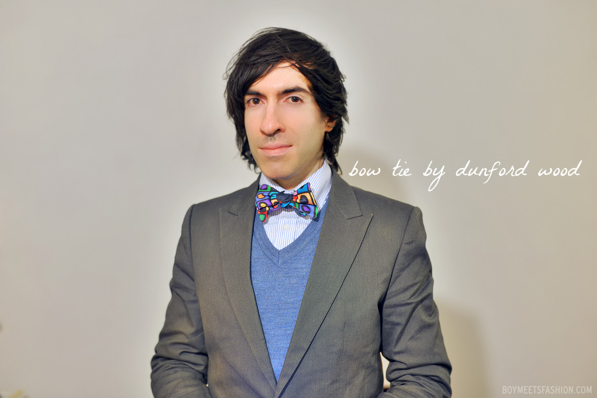 Wearing a Dunford Wood bow tie | Boy Meets Fashion – the ...