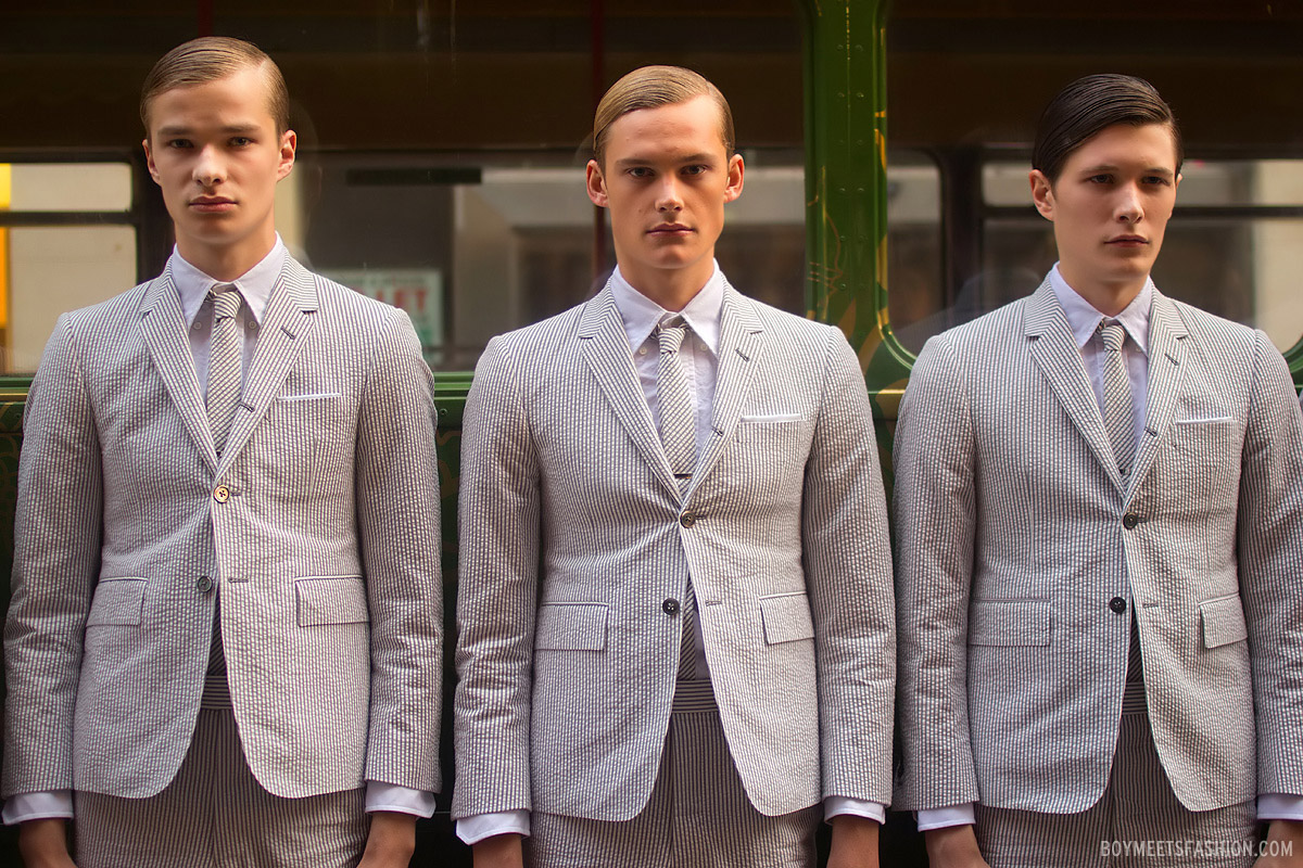 Thom Browne Ss13 Menswear Presentation At Harrods For London