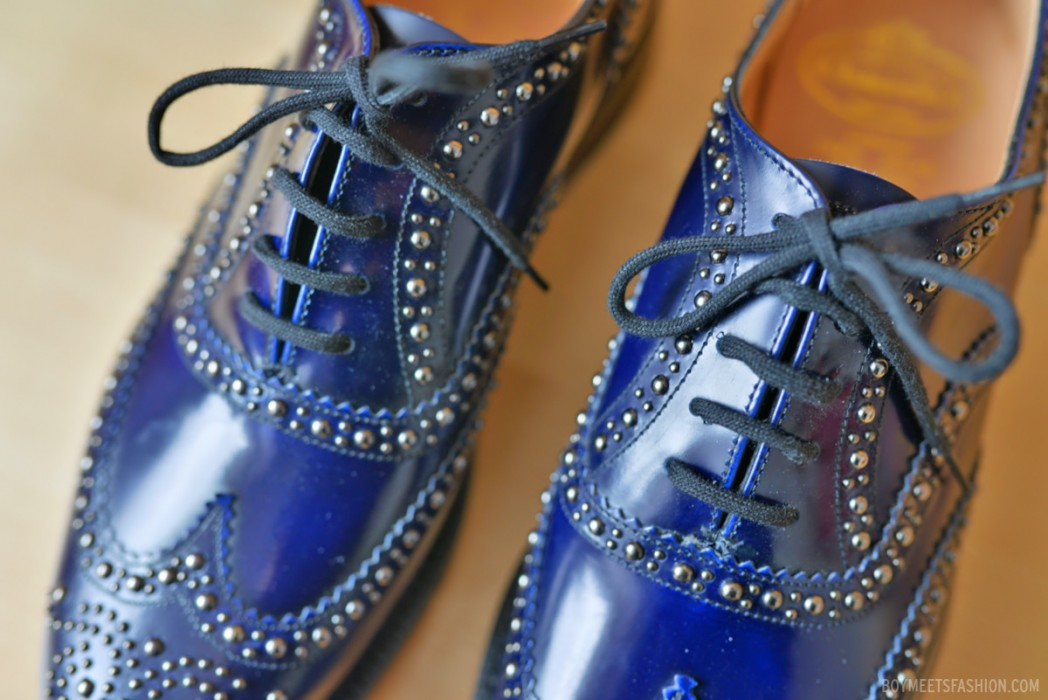 My New Shoes Church S Burwood Metal Studded Brogues Boy